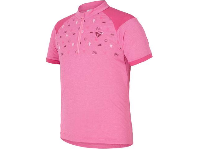 Ziener Cadlin Kortærmet cykeltrøje Børn, pink azalea